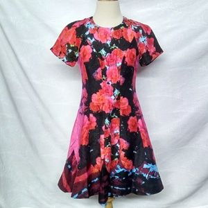 Tracy Reese Multicolored Floral Dress.